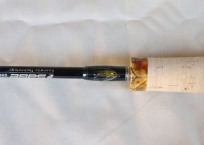 Amboyna tipped cork Grip with fly